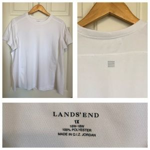Lands End white workout top